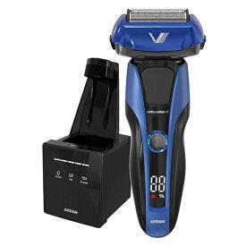 イズミ IZF-V978-A ブルー Z-DRIVE [往復式シェーバー(4枚刃・充電交流式) 洗浄機付属]