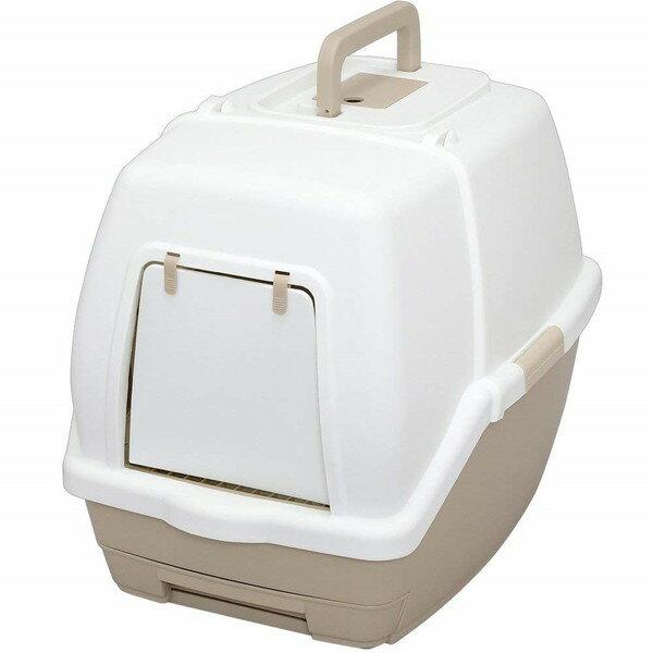 アイリスオーヤマ TIO-530FT ホワイト/ベージュ [1週間取り替えいらずネコトイレ(フード付)]