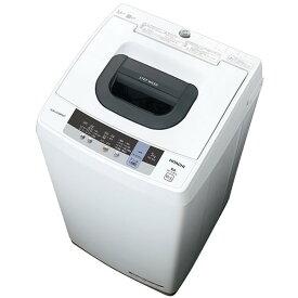 日立 HITACHI NW-50C(W) ピュアホワイト 白い約束 簡易乾燥機能付洗濯機 5kg ステンレス層 上開き 風脱水 おしゃれ着洗い 2ステップウォッシュ おいそぎコース 一人暮らし NW50CW