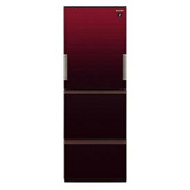 【送料無料】冷蔵庫 シャープ SHARP SJ-GW36E-R 赤 レッド 350L 右開き 左開き 両開き どっちもドア プラズマクラスター 節電 3ドア 同棲 カップル