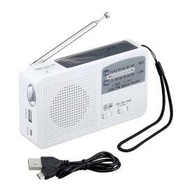 LEDライト FM/AMラジオ ポータブルラジオ 携帯ラジオ 6WAYマルチレスキューライト 防災 キャンプ アウトドア 手回し充電 乾電池 ソーラー充電 USB充電式 セーブ・インダストリー SV-5745