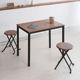 テーブル デスク ヴィンテージ おしゃれ リビングテーブル ワークデスク 机 スチール オフィス レトロ 高さ調節 ブラウンリモートワーク 在宅 テレワーク