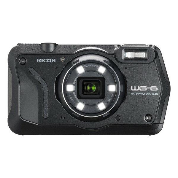 【送料無料】RICOH WG-6 ブラック ブラック [コンパクトデジタルカメラ(2000万画素)]