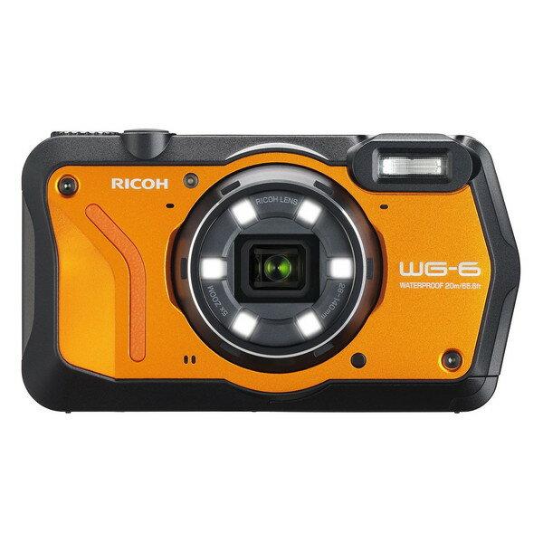 【送料無料】RICOH WG-6 オレンジ オレンジ [コンパクトデジタルカメラ(2000万画素)]