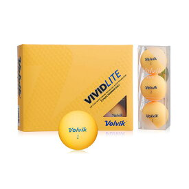 VOLVIK(ボルビック) ゴルフボール VIVIDLITE(ビビッドライト) 1ダース(12個入り) オレンジ 【日本正規品】