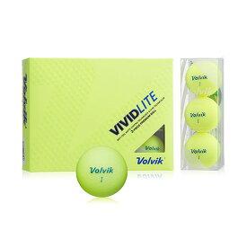 VOLVIK(ボルビック) ゴルフボール VIVIDLITE(ビビッドライト) 1ダース(12個入り) イエロー 【日本正規品】