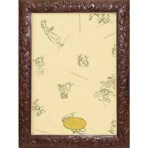 テンヨー パズルフレーム ディズニー専用 アートフィギュアパネル 108ピース用 ブラウン(18.2x25.7cm)