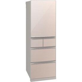 MITSUBISHI MR-B46E-F クリスタルフローラル 置けるスマート大容量 Bシリーズ [5ドア冷蔵庫 (455L ・右開き)]