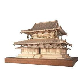 【送料無料】ウッディジョー 法隆寺 金堂 1/75 木製模型