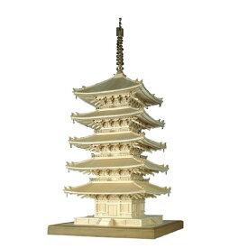 【送料無料】ウッディジョー 興福寺 五重の塔 1/75 塔