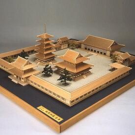 【送料無料】ウッディジョー 法隆寺 全景モデル 1/150 木製建物