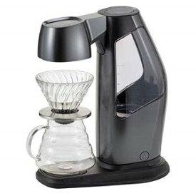 ハリオ コーヒーメーカー ドリップ式 5杯分 ガラス容器 HARIO EQS-110-MGR-BT メタリックグレー V60オートプアオーバーSmartQ コーヒーメーカー Bluetooth対応 コーヒー おしゃれ コンパクト レシピ作成