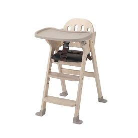 KATOJI 木製ハイチェア Easy-sit ホワイトウォッシュ ベビーチェア テーブルチェア 折りたたみ お食事 テーブル付き ベビー用品 カトージ スライド開閉式テーブル 4段階に高さ調節可能 【保証期間:1年】