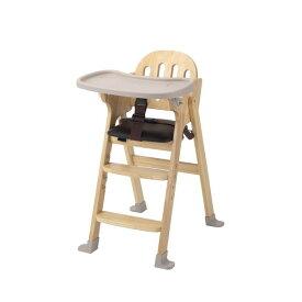 KATOJI 木製ハイチェア Easy-sit ナチュラル ベビーチェア テーブルチェア 折りたたみ お食事 テーブル付き ベビー用品 カトージ スライド開閉式テーブル 4段階に高さ調節可能 【保証期間:1年】