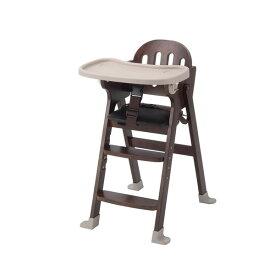 KATOJI 木製ハイチェア Easy-sit ブラウン ベビーチェア テーブルチェア 折りたたみ お食事 テーブル付き 赤ちゃん ベビー用品 カトージ スライド開閉式テーブル 4段階に高さ調節可能 【保証期間:1年】