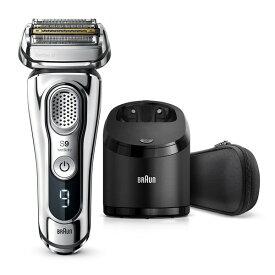 BRAUN ブラウン シリーズ9 髭剃り メンズシェーバー 電気シェーバー 電気カミソリ ブラック 男性 メンズ 新製品 往復式 4枚刃 充電式 自動洗浄器付属 水洗い 高速振動くせヒゲトリマー 音波振動テクノロジー 9394cc