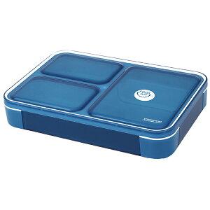 CB JAPAN 薄型弁当箱 フードマン600 クリアダークブルー