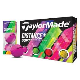 テーラーメイド(TaylorMade) ディスタンスソフトプラス ソフトマルチカラーボール 1ダース(12個入り) 【日本正規品】
