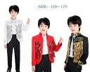 子供用タキシード スパンコール コート フリンジ 舞台スーツ 子供 男の子結婚式スーツ ピアノ 発表会 演奏会 王子様 …