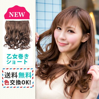 Easy wig long ponytail volume 2 x individual extensions one-touch exte-hair extensions mesh twin tails maiden wound ver2 EX23 short wigs hair neckline wig half wig heat resistant wig cosplay Quinceanera masquerade click on assorted hair with hair long ha