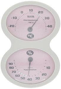 【セール中】タニタ 温湿度計 温度 湿度 アナログ 壁掛け ピンク TT-509 PK