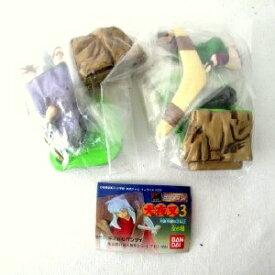 【中古】犬夜叉3 HGシリーズ ガシャポン 珊瑚(さんご) + 弥勒(やろく) 2種セット品