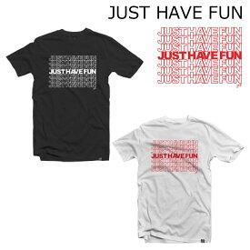 JHF JUST HAVE FUN Tシャツ メンズ THANK YOU TEE ジャストハブファン スケートボードキャップ ブランド スケーター スケボー ストリート系 ファッション 2018春夏モデル