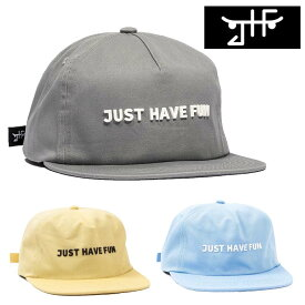 JHF JUST HAVE FUN キャップ ハット ALL IS ONE STRAPBACK ジャストハブファン スケートボード キャップ ブランド 2017SSモデル