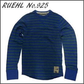 RUEHL No. 925 メンズ 長袖 カットソー ブルー / 青 ルール ナンバー925 アバクロ (abercrombie) 姉妹ブランド アメカジ (アメリカン カジュアル) ワッフル生地