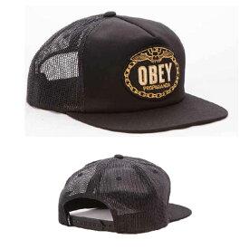 OBEY (オベイ) CHAINS TRUCKER メッシュキャップ スナップバックキャップ 帽子