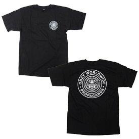 OBEY Tシャツ メンズ オベイ 半袖 ティーシャツ TEE SHIRT OBEY WORLDWIDE SEAL ストリート ※メール便可