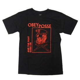 OBEY Tシャツ メンズ オベイ 半袖 ティーシャツ TEE SHIRT AND THE BEAT GOES ON ストリート ※メール便可