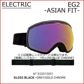 电风镜15-16 ELECTRIC EG2单板滑雪风镜SNOWBOARD GOGGLE日本合身日本透镜GLOSS BLACK型下降单板滑雪