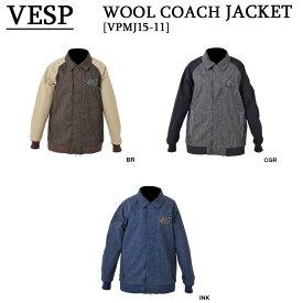 15-16 VESP ウェア ベスプスノーボードウェア WOOL COACH JACKET ウール コーチジャケット VPMJ15-11 型落ち 旧品 スノボー
