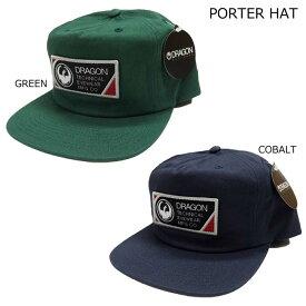 ドラゴン キャップ ゴーグルブランド 17-18 DRAGON PORTER HAT スナップバックキャップ スノボー 正規品