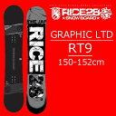 18-19 RICE28 スノーボード RT9 GRAPHIC LTD ライス28 RT9 グラフィックリミテッド 限定カラー メンズ 板 グラトリ スノボー SNOWBOARD…
