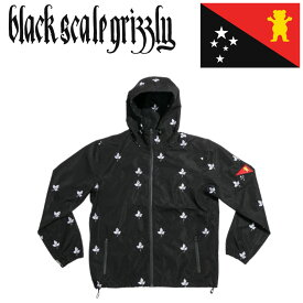グリズリー ブラックスケール コラボ GRIZZLY BLACK SCALE パーカー BLVCK GRIZZLY WATER PROOF JACKET フーディー スケートボード アパレル スケボー ストリート系 ファッション