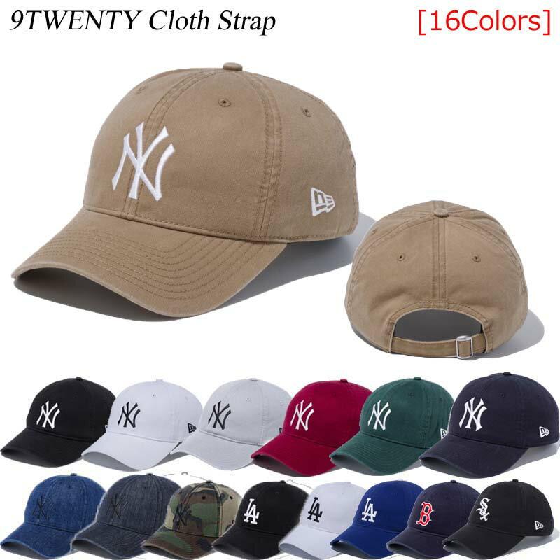 カーキ再入荷 ニューエラ キャップ NEWERA 9TWENTY CLOTH STRAP WASHED COTTON 920 CAP メンズ レディース ユニセックス ニューヨークヤンキース ロサンゼルスドジャース ローキャップ ※MLB