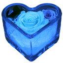 ハート 光るバラ 四つ葉のクローバー入り プリザーブドフラワー 記念日プレゼント フラワーギフト ガラス ケース バラ…