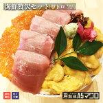 海鮮贅沢セット(中トロイクラウニ)