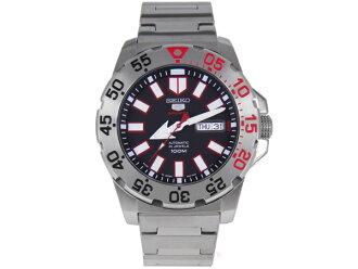 精工 5 精工手腕的手表自动运动在日本反向 SRP485J1 黑色