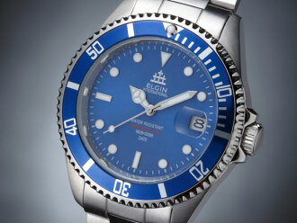 Elgin ELGIN watch 200 m water-resistant automatic divers FK1405S-BL blue