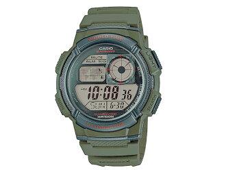 카시오 CASIO 스포츠 역 수입 월드 타임 디지털 남자 시계 AE-1000W-3A 그린