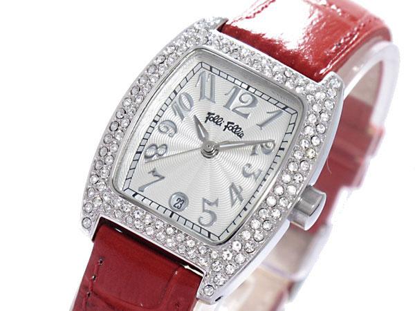 フォリフォリ FOLLI FOLLIE ジルコニア クオーツ レディース 腕時計 S922ZI ダークレッド