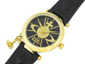 VIVIENNE WESTWOOD ヴィヴィアン ウエストウッドオーブ レディース 腕時計 VV006BKGD ゴールド×ブラック レザーベルト