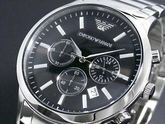 emporioarumani EMPORIO ARMANI手表AR2434人黑色×银子金属皮带