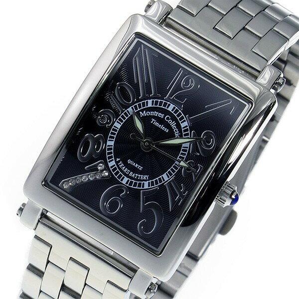 モントレス MONTRES Collection クオーツ メンズ 腕時計 MC-2525-10 ブラック