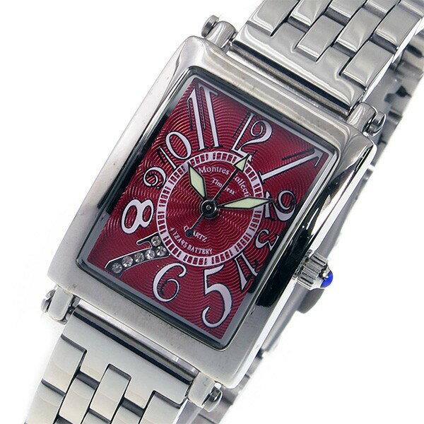 モントレス MONTRES Collection クオーツ レディース 腕時計 MC-2526-7 レッド