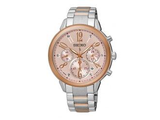 Seiko SEIKO LIKIA Rukia reverse watch chronograph ladies SRW818P1