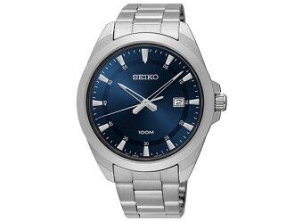 Seiko SEIKO reverse quartz men's watch SUR207P1 silver metal belt